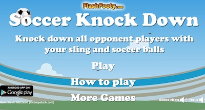 Soccer Knock Down